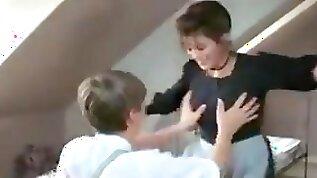 Virginity to big boobed maid