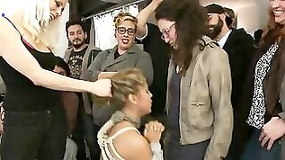 Submissive minx with thick ass gets dominated at a hairdresser salon