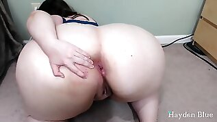 BBW Big Booty Asshole Jerk Off Instruction