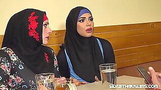 Muslim woman spread her legs