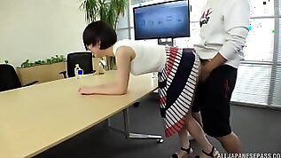 Dirty Japanese game show on cam with her perfect tits Fujie Shino having sex