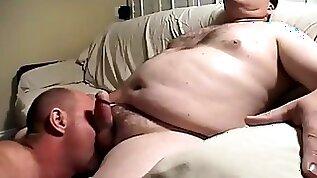 Daddy blows mature chub