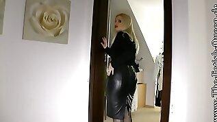 Leather skirt secretaries