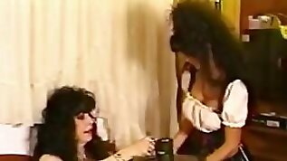 Vintage shemale fucked by a girl with a strap