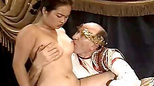 Asian amateur Girl Casting made by Older Fat Grandpa