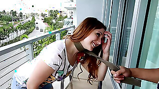 Submissive Rose Red tied up rough fucked