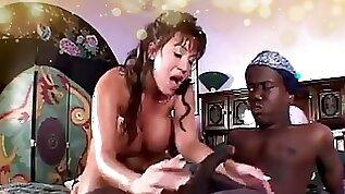 Famous asian pornstar fucks midget big silicone tits in interracial