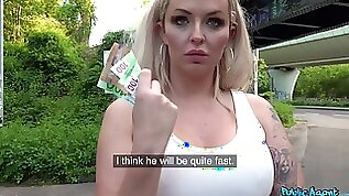 Euro slut takes the money and starts fucking like a queen