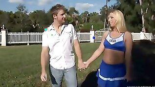 Cheerleader Jordan Gets Man Milk In Her 18Yo Schoolgirls Pussy