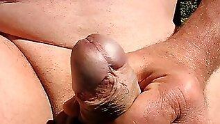 yrold Grandpa close penis wank upclose closeup mature