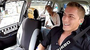Hidden cam grabs the action on the taxi backseat