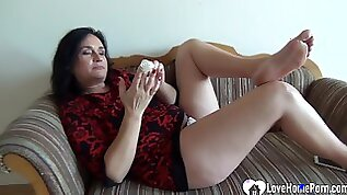 Mother Like To Fuck babe pleasures herself while being recorded