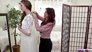 Elena licks her stepmoms ass before she gets married