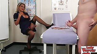 Nurse naughty cfnm loser jerk off