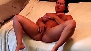 Horny muscle girl orgasms