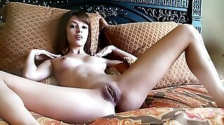 Young cutie Ashley Doll is poking her puss