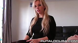 Amateur blond hair girl loves sucking and fucking