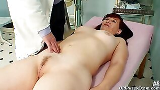 Czech Mature Is Moaning While Her Gynecologist Is Stimulating Her Hairy Pussy filled With Various Objects