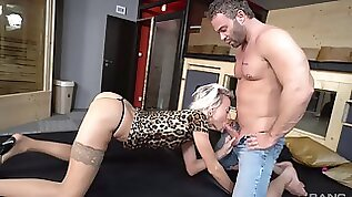 Blonde euro babe with skinny ass insane throating methods