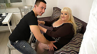 Curvy Mature hot Lady Fucking Hard With Her Younger Lover MatureNL