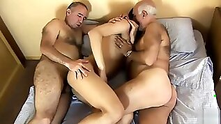Daddy and Alain enjoys two daddies