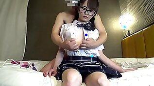 Japanese amateur uncensored JD yuka school uniform cosplay