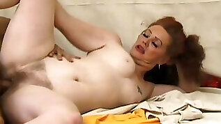 Curvy redhead mature nailed in hairy box