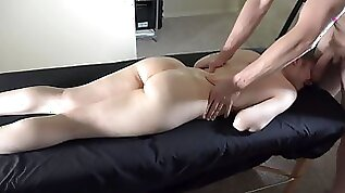 Full Contact NO MASK Oily Massage Cum All Over Tight Ass