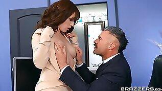 Fine woman handles the big chunk of dick like a pro