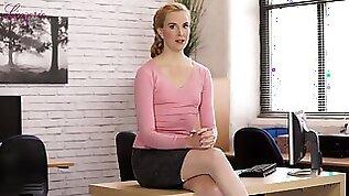 Erotic fantasies of sex hungry accountant in stockings Ariel Anderssen