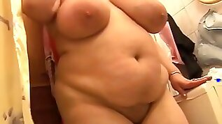 Busty mature BBW solo then gets fucked fisted