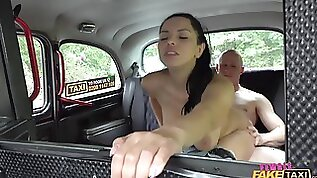 Gorgeous Russian taxi driver gets spotted and fucked balls deep