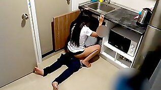 Thai Student Fucks her Plumber in the Kitchen
