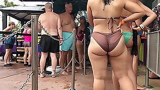 Big ass on the beach