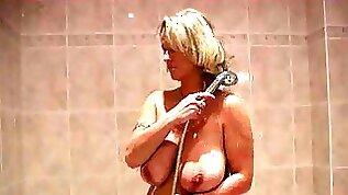Outstanding masturbation solo of my yo busty bbw milf wife