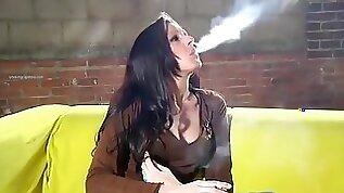 Hottest homemade Fetish Smoking sex movie