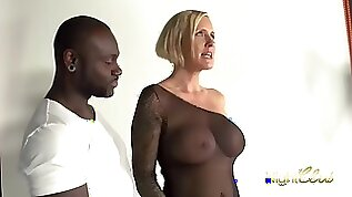 Horny milf gets fucked during a photoshoot