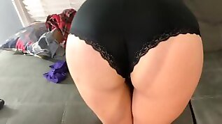 Brunette MILF Steals BFFs Panties and Gets spotted and Fucked in Them
