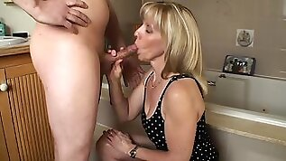 Bathroom Blow Job with a Year Old Fan