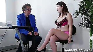 Anastasia rose fucks with old man