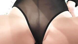 Nude pantyhose worship