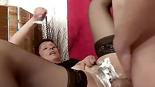 Mature Gets Shaved For a Job Gets Busted By Her Old Man