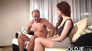 Old Young Porn Teen Takes Grandpa cock In her pussy