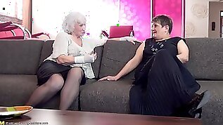 Two grannies and their apprentice having some fun together