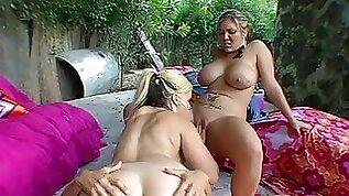 Fun with big titty chicks in the pool