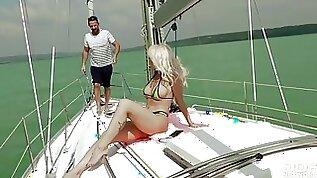 Hardcore gangbang Fuck on the Yacht