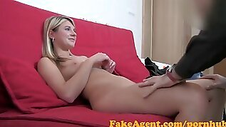 Shy blonde babe tricked into taking Huge cock in Casting