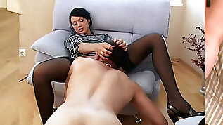 Russian super hot femdom. Pissing in jaws