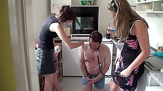 Young mistress face slapping