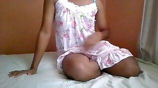 Sri Lankan Teen Ladyboy Shemale in Sexy Nighty